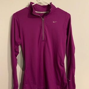 Women's Dri-Fit long sleeve half-zip shirt